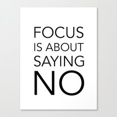 Focus is about.... Canvas Print
