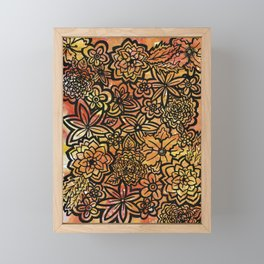Wildfire Flowers Framed Mini Art Print