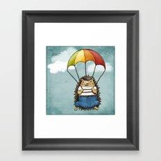 The Brave Hedggie Framed Art Print