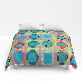 Diamonds and Squares Comforters