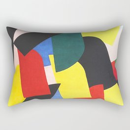 Compostion by Otto Freundlich - Vintage Painting Rectangular Pillow