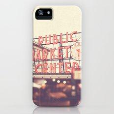 6:20. Seattle Pike Place Public Market photograph iPhone (5, 5s) Slim Case