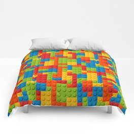 Bricks geometric pattern Comforters