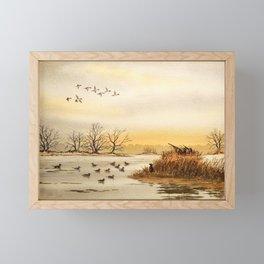 Hunting Pintail Ducks Framed Mini Art Print