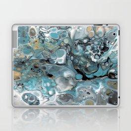 Turquoise White Gold Faux Marble Granite Laptop & iPad Skin