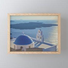 Santorini Island, Greece Framed Mini Art Print