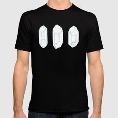 Three Lucky Crystals MEDIUM Mens Fitted Tee Black