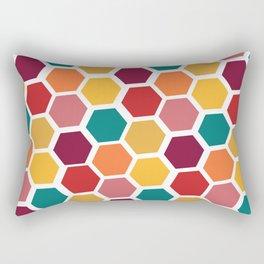Bright and Happy Geometric Pattern Rectangular Pillow