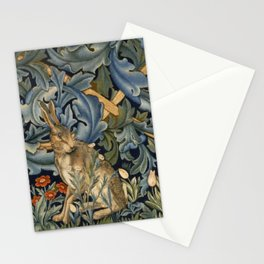 William Morris Forest Rabbit Floral Art Nouveau  Stationery Cards