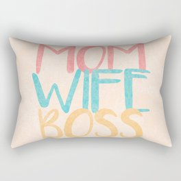 Mom Wife Boss Rectangular Pillow