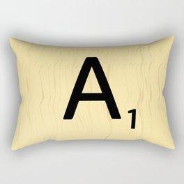 Scrabble A Decor, Scrabble Art Prints, Large Scrabble Prints, Word Wall Art, Home Decor, Wall Decor Rectangular Pillow