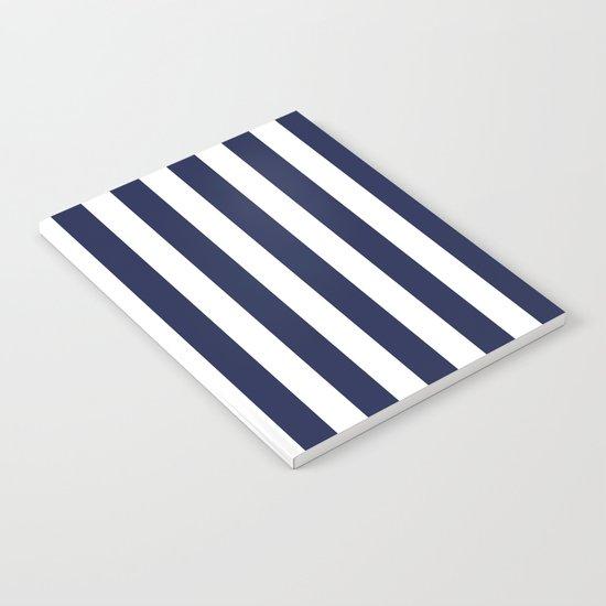Stripe Vertical Navy Blue Notebook