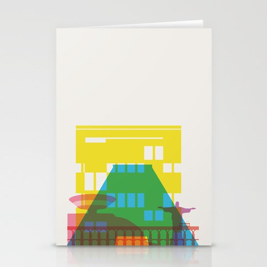 Shapes of Rio. Accurate to scale Stationery Cards