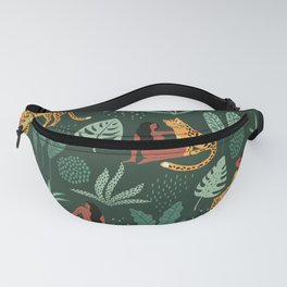 Nature Leopard Girl Fanny Pack