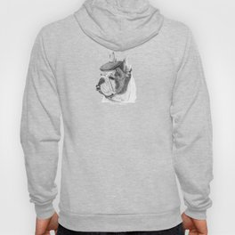 French bulldog with beret Hoody