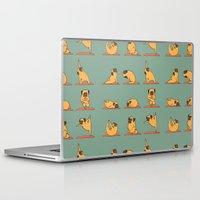 huebucket Laptop & iPad Skins featuring Pug Yoga by Huebucket