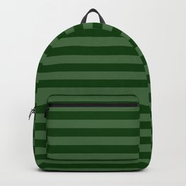 Forest Green Thin Horizontal Stripes Backpack