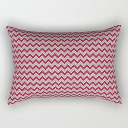 University of Alabama colors chevron zig zag minimal pattern college football sports Rectangular Pillow