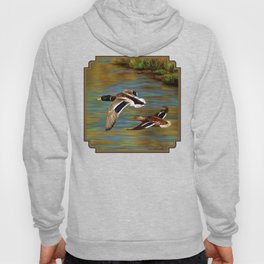 Mallard Ducks in Flight Hoody