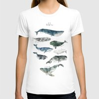 illustration T-shirts featuring Whales by Amy Hamilton