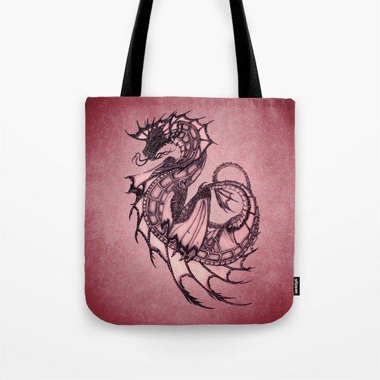 Tsunami Sea Dragon ~ Ruby Tote Bag