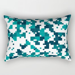Take me to the bottom of the ocean - Random Pixel Pattern in shades of blue green Rectangular Pillow