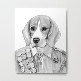 Eagle Beagle Metal Print
