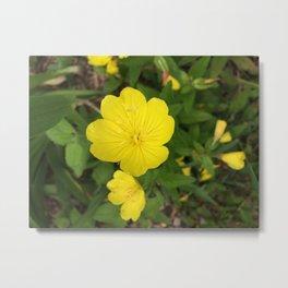 Cute Yellow Summer Flowers Metal Print