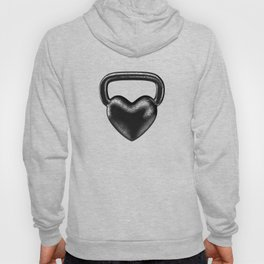 Kettlebell heart / 3D render of heavy heart shaped kettlebell Hoody