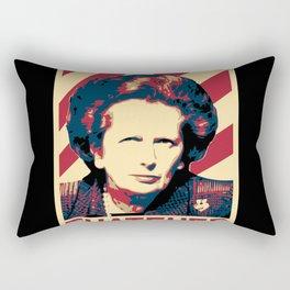 Margaret Thatcher Retro Propaganda Rectangular Pillow