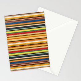 Modern Stripe Horizontal Simple Playful Kids Room Home Office Stationery Cards