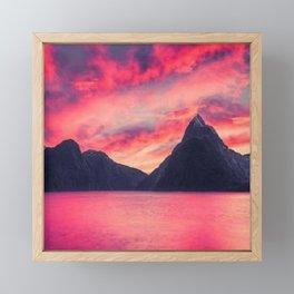 red sky Framed Mini Art Print