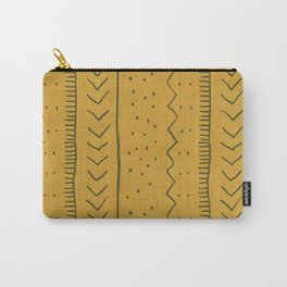 Moroccan Stripe in Mustard Yellow Carry-All Pouch