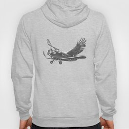 Airplane with eagle wings Hoody