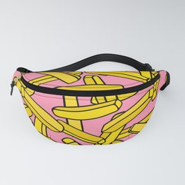 French Fries on Pink Fanny Pack