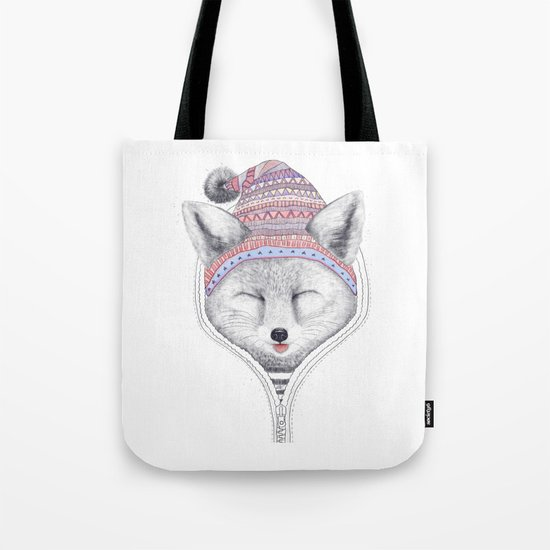 The Fox in a hood Tote Bag