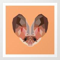 bat Art Prints featuring Bat by Alysha Dawn
