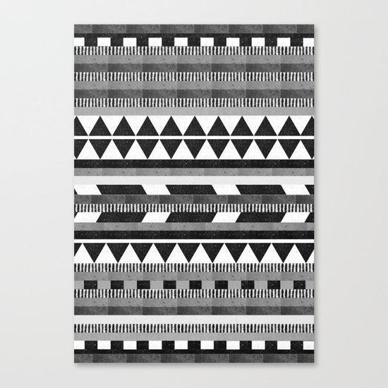 DG Aztec No.1 Monotone Canvas Print