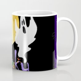 Spooky Halloween - Full Moon Witch Ghost Cats & Bats Coffee Mug