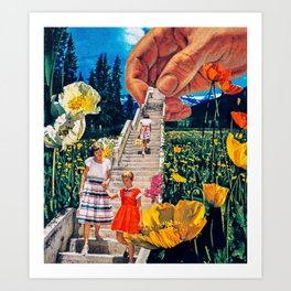 In the Flowers Art Print