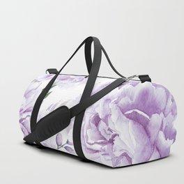 Pretty Purple Flower Garden Duffle Bag