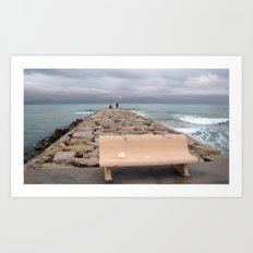 the storm moves away (Sitges) Art Print