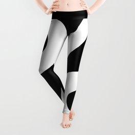 Percent Sign (White & Black) Leggings