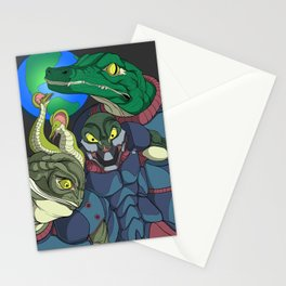 3 Reptilian Earth Stationery Cards