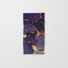 GEMSTONE & GOLD PURPLE ULTRA VIOLET Hand & Bath Towel