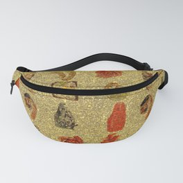 Foodie Gold Glitter Pattern Fanny Pack