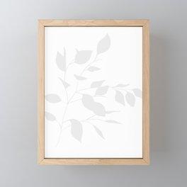 Grey Leaves Framed Mini Art Print