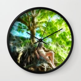0789f-JAS Tree of Life Energy Flow Visualized Wall Clock