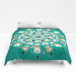 Coffee Kaleidoscope Comforters
