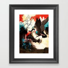 Suburban Soldier Framed Art Print